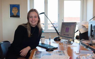 På arbejde med en praktikant: Trine Lønbro Nielsen