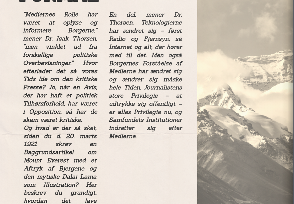 Journalist for 100 år siden – hvem var du?